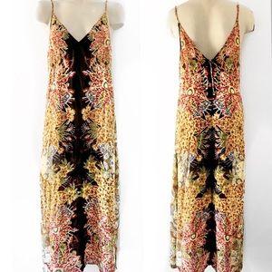 Intimately free people BoHo glam Maxi Dress SZ M